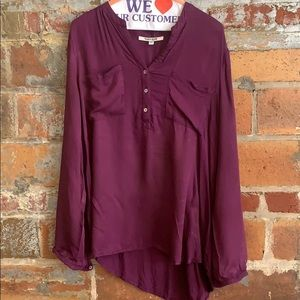 Purple casual blouse